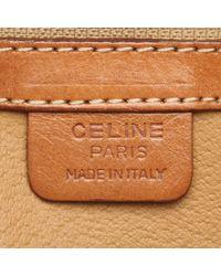 Céline Brown Coated Canvas Macadam Bag