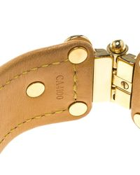 Louis Vuitton Brown Save It Monogram Canvas Wide Cuff Bracelet 16cm