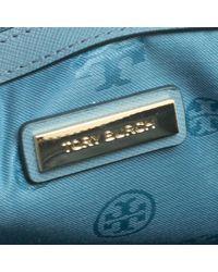 Tory Burch - Blue Turkish Leather Robinson Middy Satchel - Lyst