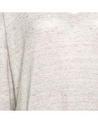 Brunello Cucinelli Natural Beige Metallic Knit Linen Long Sleeve Sweater Xxl