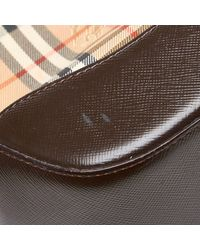 Burberry Brown/beige House Check Nylon Shoulder Bag