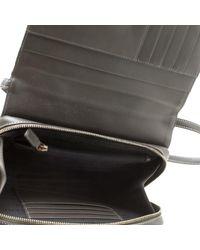 Givenchy Gray Dark Grey Leather Logo Clutch Bag