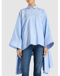 Palmer//Harding - Blue Striped Cotton Poet Shirt - Lyst