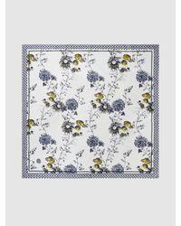 Baum und Pferdgarten Multicolor Lacey Floral Print Silk Scarf