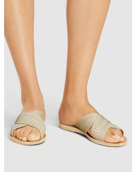 Ancient Greek Sandals Natural Thais Python-embossed Cross-strap Sandals