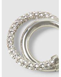 Peter Pilotto Metallic Crystal-embellished Silver-tone Earrings