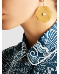 Ileana Makri | Metallic Sun Gold-plated Opal Earrings | Lyst