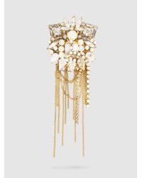Erickson Beamon - Metallic Crystal + Pearl Brooch - Lyst