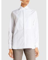 Racil - White Girlfriend Cotton-poplin Tuxedo Shirt - Lyst