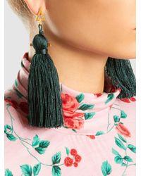 Zeus + Dione - Green Kira Rayon Tassel Earrings - Lyst