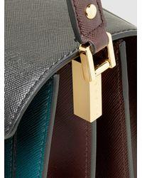 Marni Multicolor Trunk Tri-tone Large Leather Shoulder Bag
