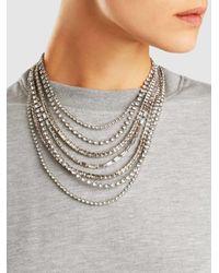 Erickson Beamon - Metallic Solidarity Crystal Necklace - Lyst
