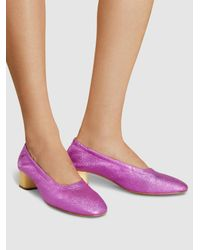 Clergerie Pink Pixie Metallic-leather Pumps