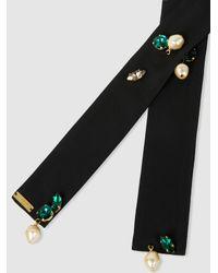 Marni - Black Embellished Silk Necklace - Lyst