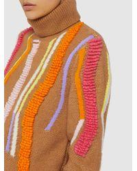 Peter Pilotto Orange Loop Detail Wool-blend Jumper