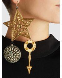 Erickson Beamon - Metallic Crystal & Gold-plated Breaker Of Chains Earrings - Lyst