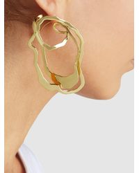 Ellery - Metallic Erno Abstract Oyster Gold-tone Earrings - Lyst