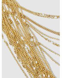 Rosantica Metallic Iliade Gold-dipped Tiered Necklace