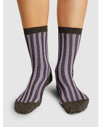 Rachel Comey Multicolor Hansel From Basel Metallic Striped Socks