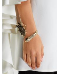 Lanvin - Metallic Gold-plated Swan Cuff - Lyst