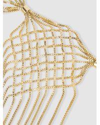 Rosantica - Metallic Aquilone Fringed Gold-tone Necklace - Lyst