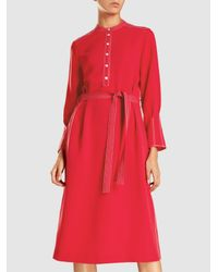 Joseph - Red Grace Stretch-crepe Midi Dress - Lyst