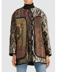 Peter Pilotto - Multicolor Velvet Quilted Jacket With Contrast Stitching - Lyst