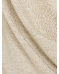Allude - Brown Merino Wool Short Sleeve Turtleneck Midi Dress - Lyst