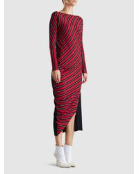 Zero + Maria Cornejo Red Lui Wide Stripe Dress