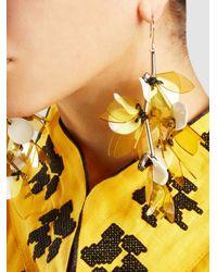 Marni - Metallic Silver-tone Resin Earrings - Lyst