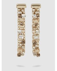 Lanvin | Metallic Crystal-embellished Gold-plated Earrings | Lyst