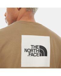 The North Face Redbox T-shirt British Khaki in Brown für Herren