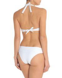 Heidi Klein White Ribbed Low-rise Bikini Briefs