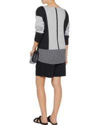 Vince - Gray Color-block Wool And Cashmere-blend Sweater - Lyst