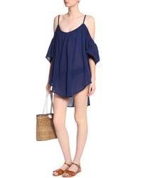 Mara Hoffman - Blue Cold-shoulder Cotton-gauze Coverup - Lyst