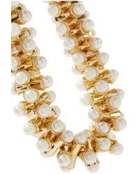 Kenneth Jay Lane - White Gold-tone Faux Pearl Bracelet - Lyst