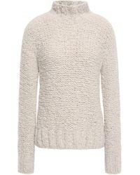 Gentry Portofino Bouclé-knit Cashmere Turtleneck Sweater Off-white