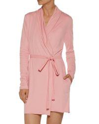 Skin Pink Pima Cotton-jersey Robe Antique Rose