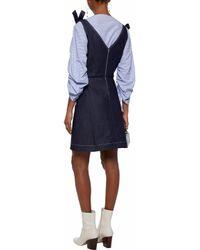 Markus Lupfer - Blue Embroidered Denim Mini Dress - Lyst