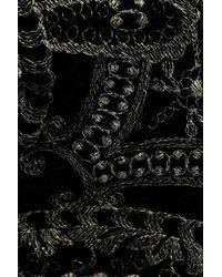 I.D Sarrieri Embroidered Velvet Balconette Bra Black
