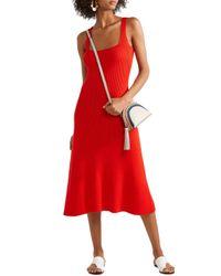 Mara Hoffman Vita Ribbed Cotton Dress Red