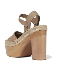 Paloma Barceló - Brown Lucia Buckled Leather Platform Sandals - Lyst