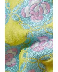 Emilio Pucci Floral-jacquard Shorts Bright Yellow