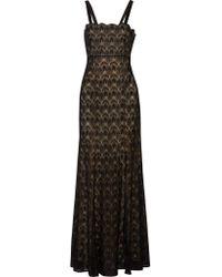 Missoni Black Metallic Crochet-knit Maxi Dress