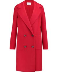 Tibi | Red Wool And Angora-blend Coat | Lyst