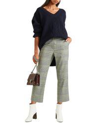Stella McCartney - Blue Ribbed Wool Sweater - Lyst