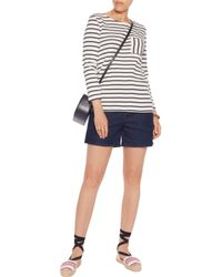 Petit Bateau - White Striped Cotton-jersey Top - Lyst