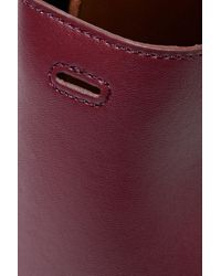 Stella McCartney Multicolor Stella Logo Small Perforated Faux Leather Tote Burgundy