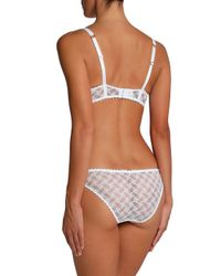 Stella McCartney Rachel Broderie Anglaise And Lace Low-rise Briefs White