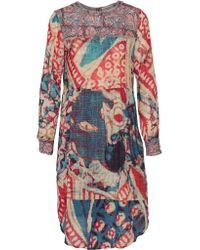 Figue - Multicolor Cheyenne Printed Cotton-blend Crepe De Chine Dress - Lyst